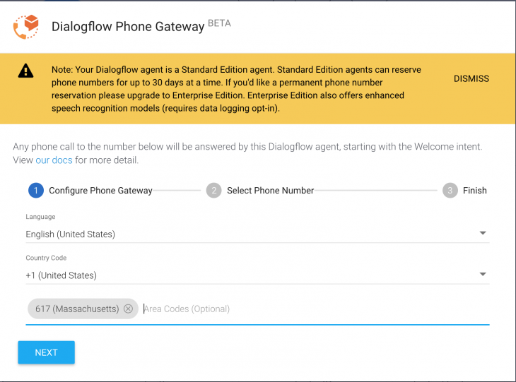 How to make a dial-in IVR with Dialogflow